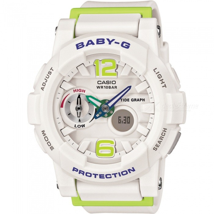 Genuine-Casio-Baby-G-Tide-Graph-BGA-180-7B2ER-Wristwatch-with-Thermometer-White