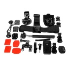 Outdoor Sports 14-in-1 Accessories Kit for GoPro - Black