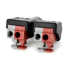 Female + Male Plug Connector / Power Adapter+ More - MultiColor (Pair)
