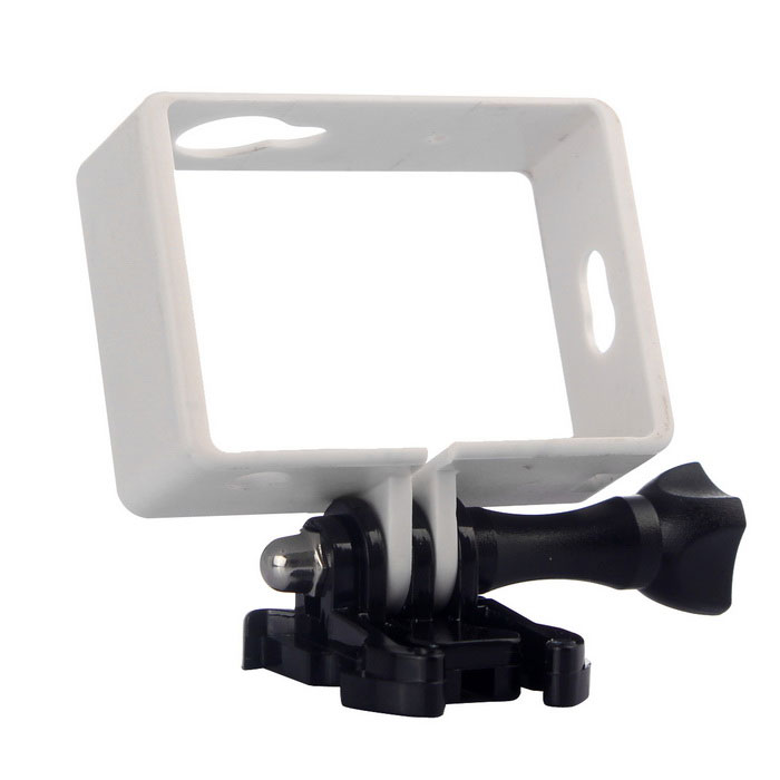 Fixed Frame, Long Screw, Buckle Mount for Xiaomi Xiaoyi - White+BlackTripods and Holders<br>Form ColorWhite + BlackMaterialPCQuantity1 DX.PCM.Model.AttributeModel.UnitTypeOthers,Frame holderRetractableNoMax.Load2000 DX.PCM.Model.AttributeModel.UnitPacking List1 x Border frame1 x Buckle mount1 x Long screw<br>