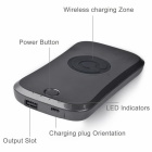 WP-7000 Qi Wireless 7200mAh Mobile Power Bank - Grey