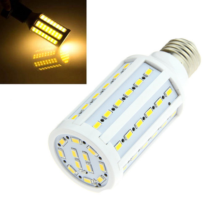 E27 12W LED Bulb Warm White 3000K 1500lm 60-SMD 5630 - White (AC 220V)E27<br>Form  ColorWhiteColor BINWarm WhiteMaterialPlastic + aluminumQuantity1 DX.PCM.Model.AttributeModel.UnitPower12WRated VoltageAC 220 DX.PCM.Model.AttributeModel.UnitConnector TypeE27Chip Type5630Emitter TypeLEDTotal Emitters60Theoretical Lumens1500 DX.PCM.Model.AttributeModel.UnitActual Lumens1500 DX.PCM.Model.AttributeModel.UnitColor Temperature3000KDimmableNoBeam Angle360 DX.PCM.Model.AttributeModel.UnitPacking List1 x Corn lamp<br>