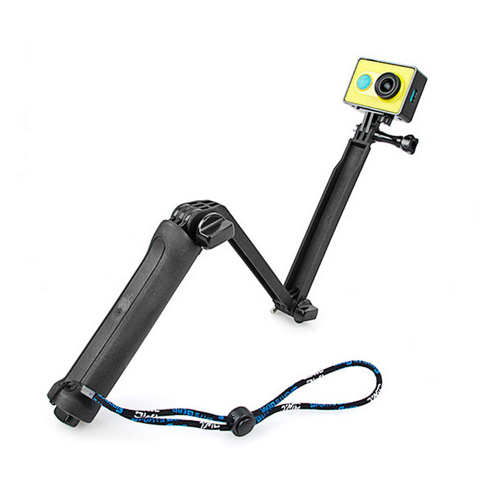 Monopod TrIPOD Mount for GoPro Hero 4 / 3+ / 3 / 2 / Xiaoyi - BlackMounting Accessories<br>Form ColorBlackQuantity1 DX.PCM.Model.AttributeModel.UnitMaterialABSShade Of ColorBlackCompatible ModelsGoPro Hero 2,GoPro Hero 3,GoPro Hero 3+,GoPro Hero 4RetractableYesSection Number3Full Size 51 DX.PCM.Model.AttributeModel.UnitFolded Size19 DX.PCM.Model.AttributeModel.UnitMax.Height51 DX.PCM.Model.AttributeModel.UnitMin.Height19 DX.PCM.Model.AttributeModel.UnitMax.Load800 DX.PCM.Model.AttributeModel.UnitBand Length10 DX.PCM.Model.AttributeModel.UnitPacking List1x 3-Way tripod1x Wrist rope(18cm)1x Screw<br>