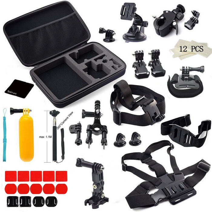 45-in-1 Accessories Kit for GoPro Hero 4 / HD 3+ / 3 / 2 / 1 - Black