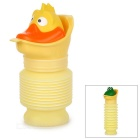 Cartoon Style Portable PC Urinal Toilet w/ Cover for Kids - Yellow