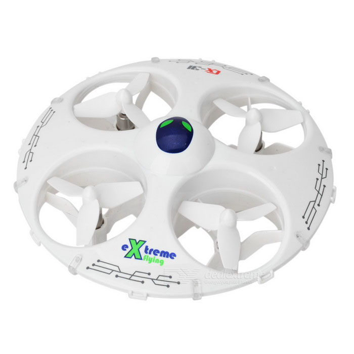 Cheerson CX-31 4-CH R/C Quadcopter UFO w/ 3D Tumbling - WhiteR/C Airplanes&amp;Quadcopters<br>Form ColorWhiteModelCX-31MaterialABS aviation materials, electronic componentsQuantity1 DX.PCM.Model.AttributeModel.UnitShade Of ColorWhiteGyroscopeYesChannels Quanlity4 DX.PCM.Model.AttributeModel.UnitFunctionUp,Down,Left,Right,Forward,Backward,Hovering,Sideward flight,Others,3D tumblingRemote TypeRadio ControlRemote control frequency2.4GHzRemote Control Range30 DX.PCM.Model.AttributeModel.UnitSuitable Age 12-15 years,Grown upsCameraNoCamera PixelNoLamp YesBattery TypeLi-ion batteryBattery Capacity500 DX.PCM.Model.AttributeModel.UnitCharging Time90 DX.PCM.Model.AttributeModel.UnitWorking Time8 DX.PCM.Model.AttributeModel.UnitRemote Controller Battery TypeAARemote Controller Battery Number4 (not included)Remote Control TypeWirelessModelMode 2Packing List1 x R/C Quadcopter1 x Remote controller2 x Blades2 x Screwdrivers1 x Charging cable (62cm)1 x English manual<br>