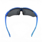 Outdoor UV400 Protection Resin Frame Polarized Sunglasses - Sapphire