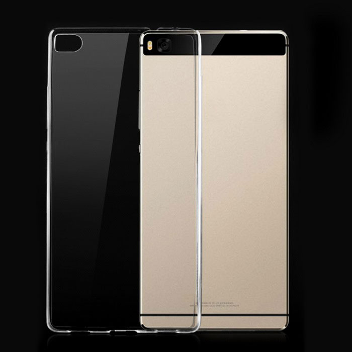 Ultra-thin TPU Back Cover Case for Huawei Ascend P8 - Translucent