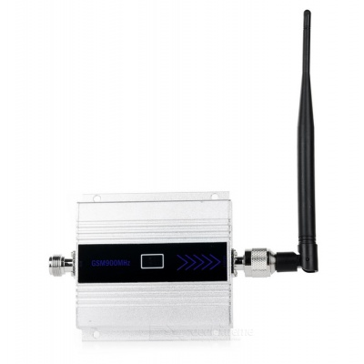 """2G/3G/4G Cell Phone Lightning-Proof 1.5"""" Signal Booster - Silver+Black"""