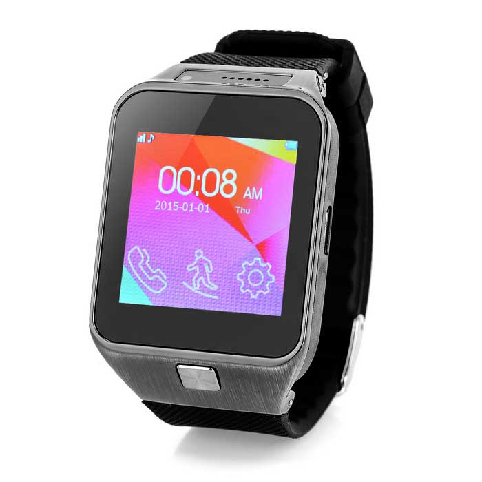 S88 GSM Smart Watch Phone w/ 64MB RAM, 64MB ROM - Black (EU Plug)