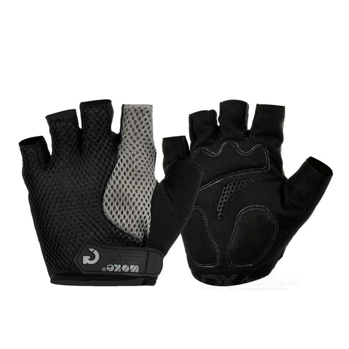 MOke Cycling Sweat-Absorbing Half-Finger Gloves - Black (M)Gloves<br>Form ColorBlackSizeMQuantity1 DX.PCM.Model.AttributeModel.UnitMaterialFiber mesh cloth + suedeTypeHalf-Finger GlovesSuitable forAdultsGenderUnisexBest UseCyclingOther FeaturesSuitable for palm width: Packing List1 x Pair of gloves<br>