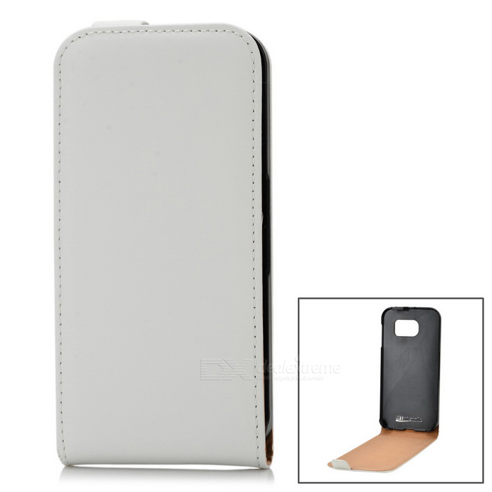 Split Leather Case for Samsung Galaxy S6 G9200 - White
