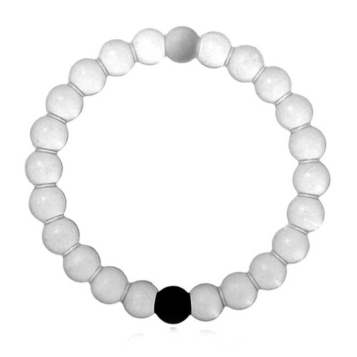 Womens Clear Silicone Bands Beads Style Bracelet