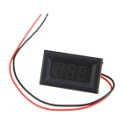 "DIY 0.36"" 3-Digit 2-Wire DC 2.7~30V Green Light LED Digital Voltmeter Voltage Display Module - Black"