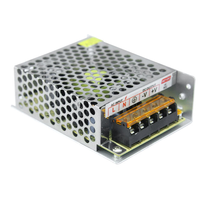 DC 12V 5A 60W Indoor Switching Power Supply for LED Strip - Silver