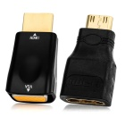 2-in-1 HDMI to VGA M-F + Mini HDMI to HDMI M-F Adapters - Black
