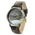 Camouflage PU Band Quartz Analog Sports Watch - Brass (1*CR2016)
