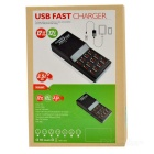 12-Port USB Quick Charger w/ Intelligent Recognition Output - Black