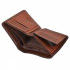 WBP858 Men's Stylish Top Layer Cowhide Purse Wallet - Green Brown