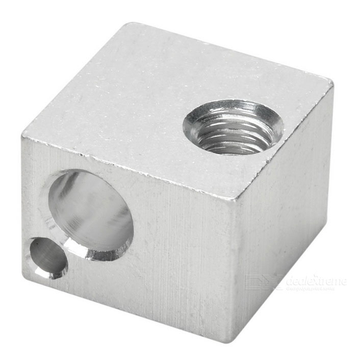 Aluminum Alloy Heating Block for E3D - Silver3D Printer Parts<br>Form ColorSilverModelN/AQuantity1 DX.PCM.Model.AttributeModel.UnitMaterialAluminum alloyEnglish Manual / SpecNoPacking List1 x Block<br>