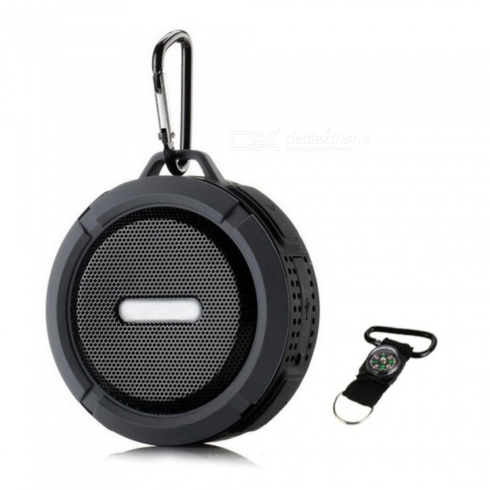 Outdoor / Indoor IP65 Waterproof BT 3.0 Speaker w/ Micro SD - Black