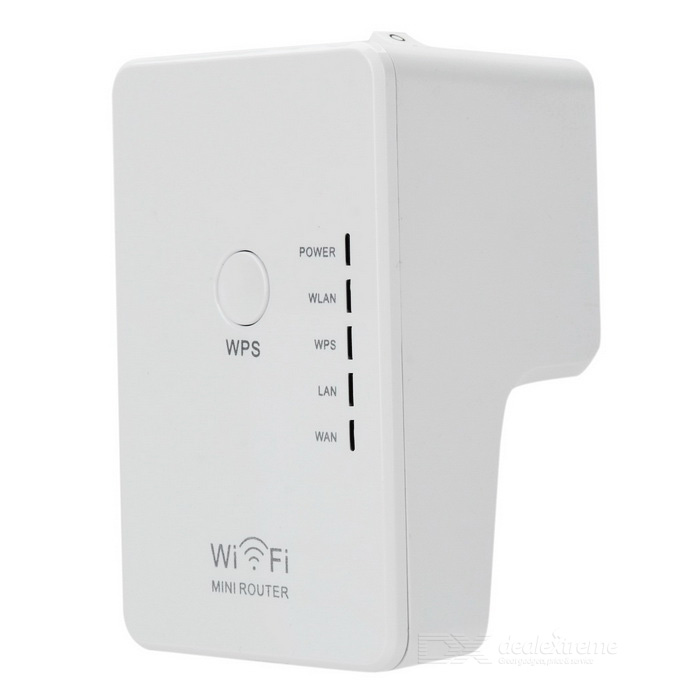 Wall-Plug Wireless-N Router w/ Control Switch - White (US Plugs)
