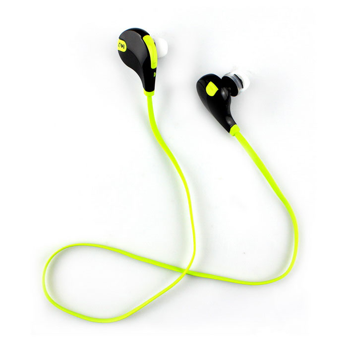 Bluetooth 4.1 Earphone Sport Running Headphone w/ Mic - Green + BlackHeadphones<br>Form  ColorGreen + Black + Multi-ColoredMaterialABSQuantity1 DX.PCM.Model.AttributeModel.UnitShade Of ColorGreenEar CouplingIn-EarBluetooth VersionOthers,V4.1Operating Range10mRadio TunerNoMicrophoneYesSupports MusicYesConnects Two Phones SimultaneouslyNoApplicable ProductsIPHONE 5,IPHONE 4,IPHONE 4S,IPADBuilt-in Battery Capacity 80 DX.PCM.Model.AttributeModel.UnitTalk Time4.5 DX.PCM.Model.AttributeModel.UnitPacking List1 x Sports headset1 x USB charging cable (20cm)6 x Soft ear caps6 x Soft ear hooks 1 x Chinese user manual<br>