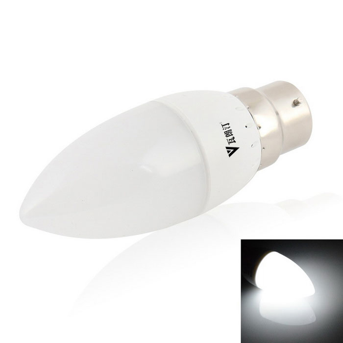 WaLangTing B22 4W Dimmable Cool White 9-LED Candle Bulb Lamp - White