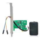 Wireless PCI-E Computer Switch Lock w/ Remote Control - Green + Black
