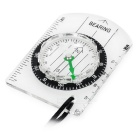Outdoor Orienteering Camping Baseplate Ruler Scale Compass - White
