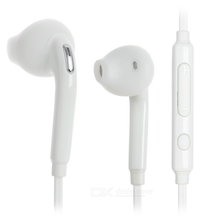 3.5mm Plug In-Ear Earphones w/ Mic. for Samsung Phones - White