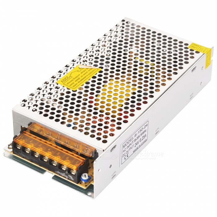 Buy 85~265V to DC 24V 150W 6.25A Switching Power Supply for LED - Silver with Litecoins with Free Shipping on Gipsybee.com