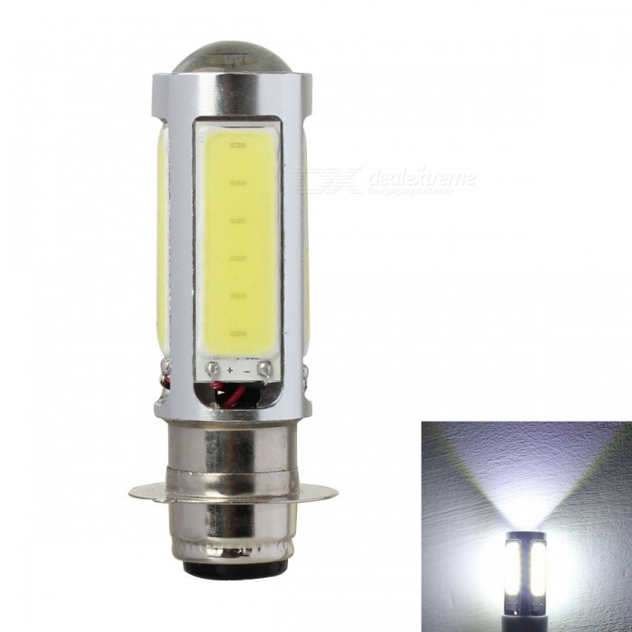 Buy MZ BA15D 25W White COB LED Motorcycle Brake / Tail Light - Silver with Litecoins with Free Shipping on Gipsybee.com