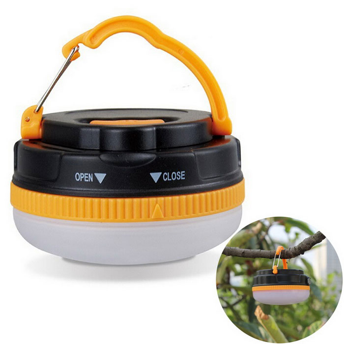 18lm LED Outdoor Camping Light / Tent Night Lamp - Orange + Black