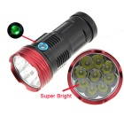 BestFire 9-LED 720LM 3-Mode Cool White Flashlight Torch - Black + Red