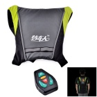 Bikeman YKGJ-B0012 Warning R/C Signal Lamp Vest for Cycling - Black