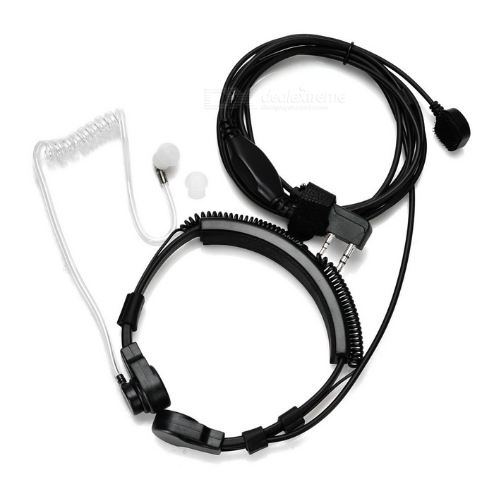 Cwxuan Adjustable Air Duct K-Connector Headset for Walkie Talkie