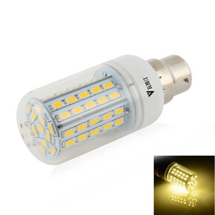 WaLangTing B22 7W Dimmable LED Corn Lamp Warm White 3200K 500lm 72-SMD