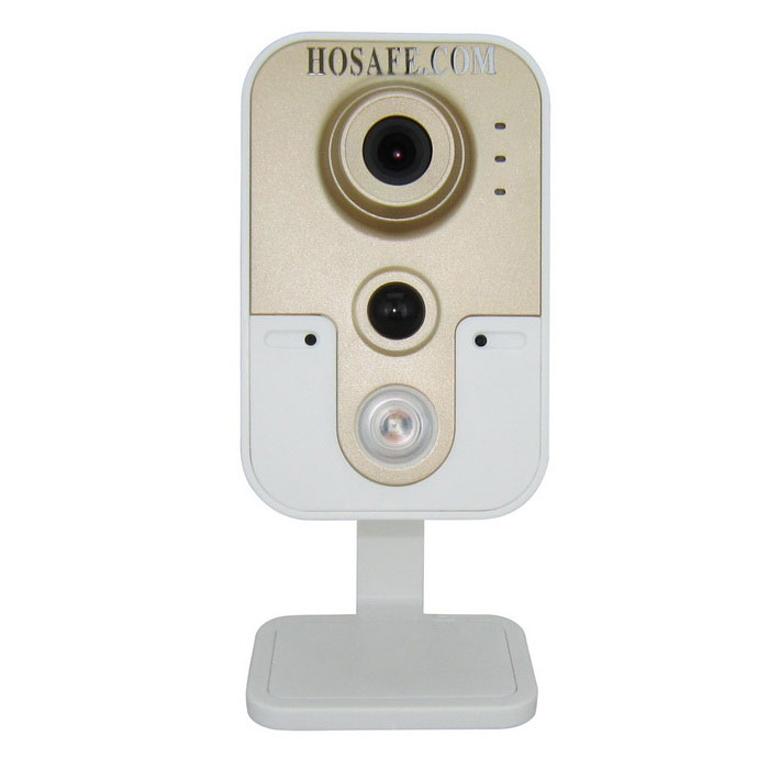 HOSAFE 1.0MP 720P IP Camera w/ Night Vision EU plug - White + Golden