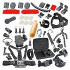 50-In-1 Accessories Kit for GoPro Hero 4 / 3+ / 3 / 2 / 1 - Black