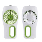 USB Mini Hand-Held Fan Air Conditioner Handy Cooler - White + Green