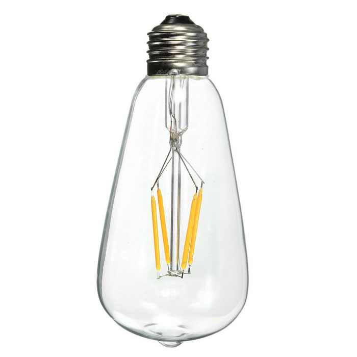 Buy E27 4W LED Filament Bulb Warm White 2700K 300lm (AC 220V) with Litecoins with Free Shipping on Gipsybee.com
