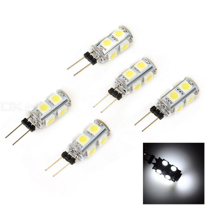 G4 2W Mini LED Light Lamp Bluish White 90lm 9-SMD 5050 (DC 12V / 5PCS)