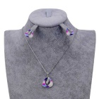 Women's Shell Shaped Rhinestones Alloy Pendant Necklace - Silver