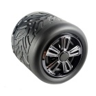 Wheel Type Bluetooth 2.0 HIFI Speaker w/ TF, Hands-free Calls - Black