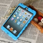 Tire Pattern Protective Back Case w/ Holder for IPAD MINI - Blue