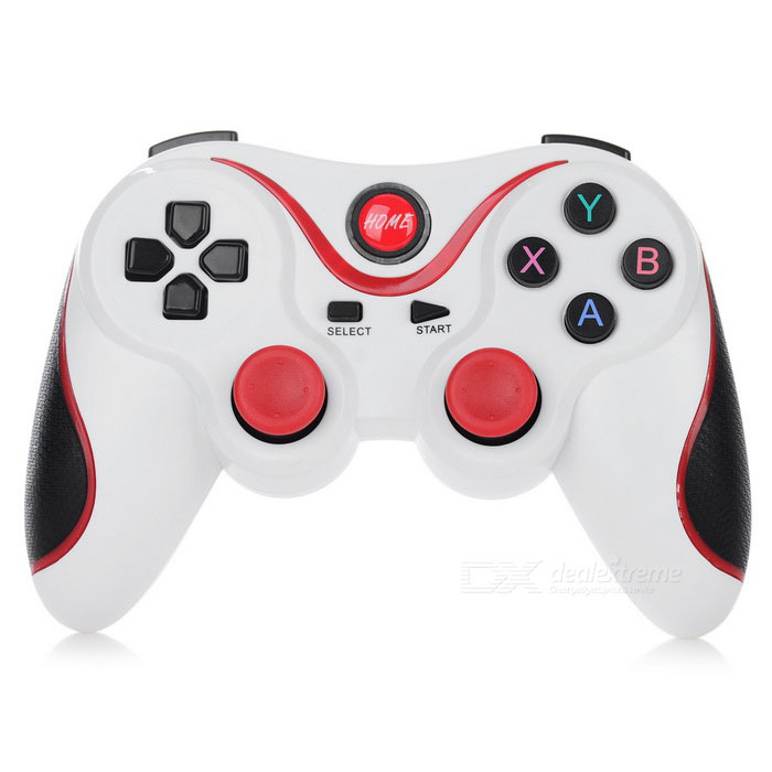 TERIOS T3 Bluetooth V3.0 + HS Controller Handle - White + RedGame Gadgets<br>Form  ColorWhite + RedModelT3MaterialThe shell of plasticQuantity1 DX.PCM.Model.AttributeModel.UnitSupported OSAndroid 2.3 or above systemCompatible ModelsSamsung / Xiaomi / HTC etcConnectionBluetooth V3.0 + HSKeys17Operating Range10 DX.PCM.Model.AttributeModel.UnitBuilt-in Battery Capacity 350 DX.PCM.Model.AttributeModel.UnitStandby Time72 DX.PCM.Model.AttributeModel.UnitCharging Time2 DX.PCM.Model.AttributeModel.UnitWorking Time5~6 DX.PCM.Model.AttributeModel.UnitRootNoPacking List1 x Controller 1 x USB cable (45cm)1 x Chinese / English user manual<br>