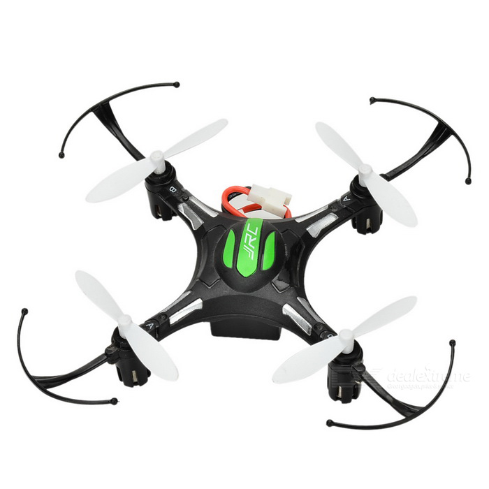 JJRC H8mini Headless 2.4GHz 6-Axis 4CH Mini Quadcopter - BlackR/C Airplanes&amp;Quadcopters<br>Form  ColorBlack + MulticolorModelH8MINIMaterialABSQuantity1 DX.PCM.Model.AttributeModel.UnitShade Of ColorBlackGyroscopeYesChannels Quanlity4 DX.PCM.Model.AttributeModel.UnitFunctionUp,Down,Left,Right,Forward,Backward,Stop,Hovering,Sideward flightRemote TypeRadio ControlRemote control frequency2.4GHzRemote Control Range30 DX.PCM.Model.AttributeModel.UnitSuitable Age 8-11 years,12-15 years,Grown upsCameraNoCamera PixelNoLamp YesBattery TypeLi-polymer batteryBattery Capacity150 DX.PCM.Model.AttributeModel.UnitCharging Time45 DX.PCM.Model.AttributeModel.UnitWorking Time7 DX.PCM.Model.AttributeModel.UnitRemote Controller Battery TypeAAARemote Controller Battery Number3 (not included)Remote Control TypeWirelessModelMode 2 (Left Throttle Hand)CertificationCEOther Features360-degree roll, a key return, headless modePacking List1 x R/C quadcopter 1 x Remote controller 1 x Battery (inside the quadcopter)4 x Pads 2 x Blades 1 x Screwdriver 1 x USB adapter<br>