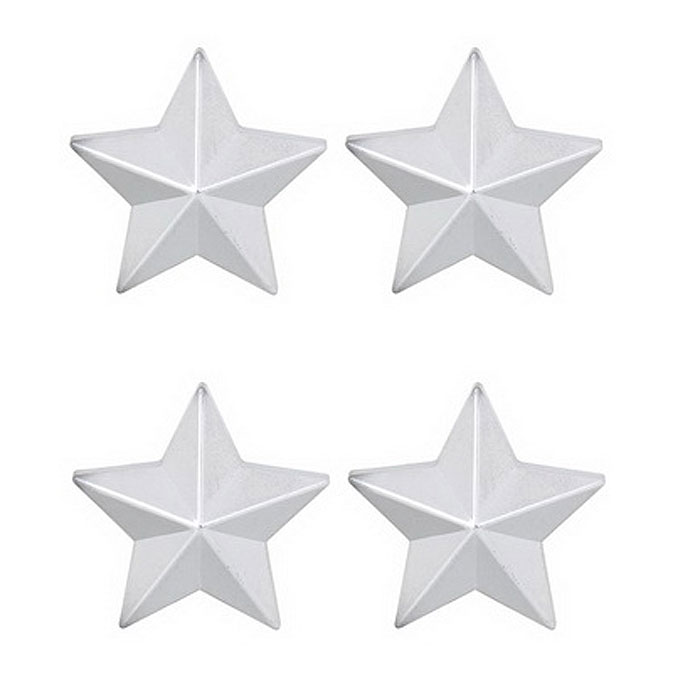 MZ 8mm Five-Pointed Star Car Plastic Tire Valve Caps - Silver (4PCS)