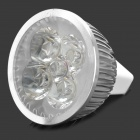 4W MR16 360LM 3500K calientan la luz blanca 4-LED bulbo de la taza (12V)